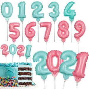 Feliz cumpleaños fiesta decoración globos baby ducha ducha decoraciones navidad 2021 6 pulgadas alfabeto papel de aluminio globo