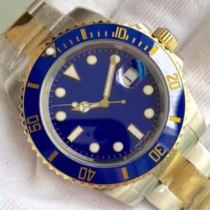 Hochwertige goldene blaue Uhr 316L Edelstahl Automatische mechanische Bewegung Männer Frauen 40mm Uhren Armbanduhren Master