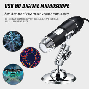 1600X USB Digital Electronic Microscope Camera Endoscope 8 LED Magnifier Adjustable Magnification With Stand Kids Science Toys Wholesale
