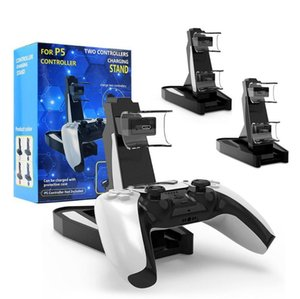 Charger Dock For Playstation 5 PS5 Game Controller Dual Port Charging Dock Stand Station LED Indicator Charger Storage Base Fast Charging