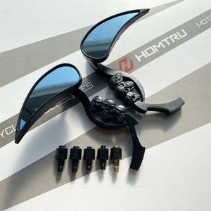 Бесплатная доставка Новый черный черный слегка череп зеркала заднего вида для Harley Cruiser Chopper мотоцикл