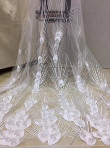 African lace fabric 2021 high quality 3D lace fabric Nigerian tulle mesh D36181