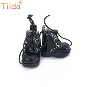 Tilda 3.2cm Doll Boots for Blythe Azone Doll Toy,1 8 Mini Lovely Leather Dots Gym Shoes for BJD Dolls Boot Shoes Accessories L0308