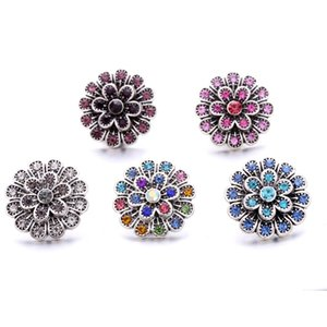 Wholesale Rhinestone 18mm Snap Button Clasp Metal fireworks charms for Snaps Jewelry Findings suppliers