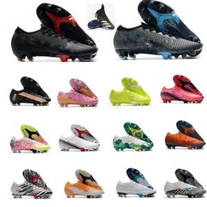 2021 Hommes Tarifs de football Superfly 7 Elite Se Neymar FG Chaussures de foot extérieures Mercurial Elite FG 13 CR7 Bottes de football Ronaldo