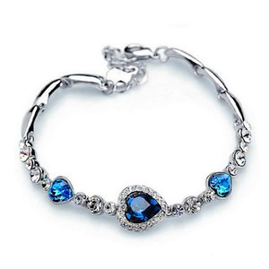 Diamond Love Bracelet Fashion Woman Ocean Heart Full Diamond Bracelet Bracelet Mother Day Gift