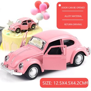 Newest Arrival Retro Vintage Beetle Diecast Pull Back Alloy Car Model Toy For Children Gift Decor Cute Figurines Miniatures