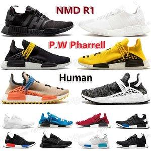 NMD R1 رجل مصمم الاحذية حذاء رياضة PW PWRELL HU MAN الرجال النساء الترا ممتاز توسيد XR1 الكلاسيكية الإنسان الثلاثي الثلاثي أسود أبيض ultraboost أحذية رياضية 36-45