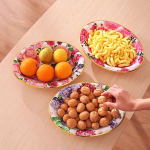 Placa de frutas Criativo Sala de estar Simples Europeu Fruta Fruta Bacia Secada Fruta Doces Melão Sementes Snack Plate Plástico