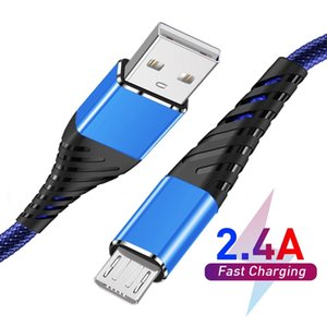 2.4A Fast Charging Charger Cable 3FT Long Premium Nylon Braided USB TYPE C Micro Cable Sync data Charger Cord for Android Cellphone