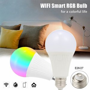 2021 New the Can Be Darkened 9w Rgb Intelligent Wifi Light Led Multicolor Telephone Remote Control Compatible with Alexa Google Tmall Stws