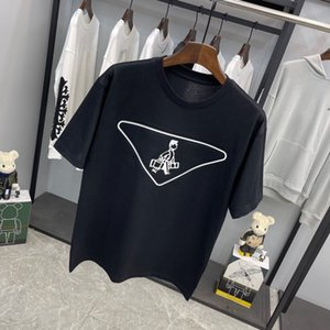 21 ss Herren T-Shirts 3d Dreieck Männer Kleidung Kurzarm Tag Buchstaben Polo Schwarz Weiß 08