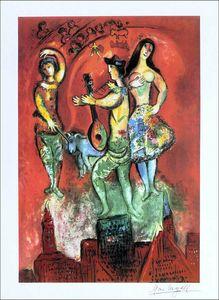 Carmen Opera Marc Chagall Ev Dekor Handpainted / HD-Baskı Yağlıboya Tuval Duvar Sanatı Tuval Resim 210305