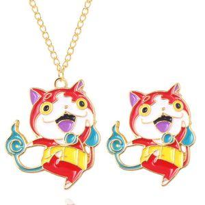Japonais 3Ds Game Cat Demon Broche Dessin animé Joli animal dégoulinant Broche Badge Grl Garçon Bijoux Cadeau