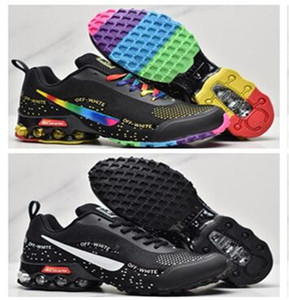 2020 NUEVO REAX RUN MUJER RAINBOW Shox Shox Running Shoes Pink Buena Calidad Lady Cushion Transpirable Deporte Sneaker des Chaussure Fitness