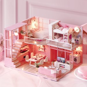 DIY Doll House Furniture Dream Angel Miniature Dollhouse Toys for Children Sylvanian Families House Casinha De Boneca Lol House