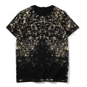 2021 Summer new Men 3D Starry sky constellation print T-shirts fashion short sleeve Casual cotton Tshirts men women Tops w24