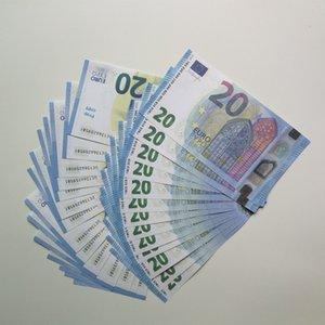 게임 복사지 대부분의 Toy024 지폐 / 유로 / 달러 100pcs / 팩 소품 가족 미국 키즈 가짜 플레이 돈 현실적인 또는 Uwhxu