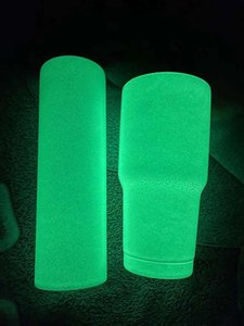Sublimation Luminous Blank Straight Tapered Skinny Tumbler Glow In The Dark 20oz 30oz With Luminous Paint Luminescent Tumbler by Sea WWA162