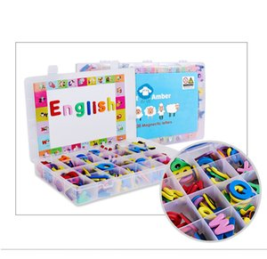 Children Toys English Alphabet Tiles Uppercase Lowercase Letter Stickers Puzzle Toys Magnetic Stickers Early Education Tools