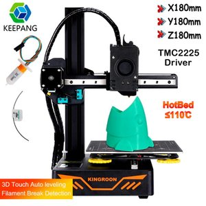 Printers Upgraded KP3S 3.0 Titan Extruder 3D Printer DIY Kit KINGROON With TMC2225 Drive Resume Printing Touch
