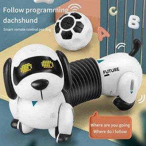 Programable 2.4G Wirels Smart Remote Control Robot dog Kids Toy Talking&Walk&Dance Intelligent Robot Dog Electronic Pets Toys