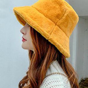 Wide Brim Hats Design Men Women Outdoor Multicolor Rainbow Faux Fur Leopard Pattern Bucket Ladies Winter Soft Warm Hat For Daily Life