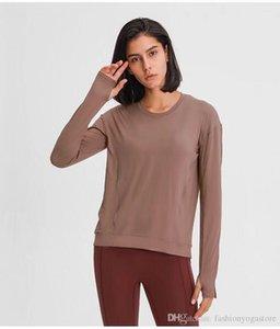 L013 yoga long sleeve tuck yoga flow shirts sport top fitness yoga gym sports wear for Women Gym pleats Running T Shirt