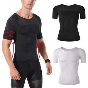 Uomo Body Shaper Addome Slimming Shapewear Pancia Shaping Corsetto Maschio Modellazione Cintura Gynecomastia Camicie Compressioni Faja Hombre