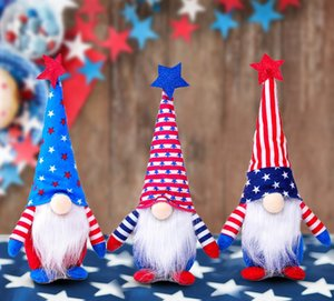 Handmade 4th of July Independence Day Patriotic Plush Doll Plush Toy Ornaments Set Festival Home Decoratio