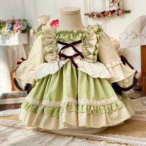 Miayii Baby Kleidung Spanische Vintage Lolita Süße Niedliche Ballkleid Rüschen Bogen Geburtstag Ostern Prinzessin Kleid Für Mädchen Y3773