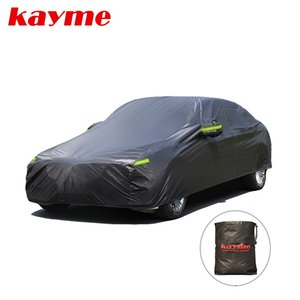Kayme Universal Full Black Car Covers Outdoor UV Snow Resistant Sun Protection Cover for Suv Jeep Sedan Hatchback