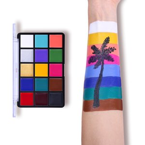 Face Body Painting Oil Safe Kids Flash Tattoo Painting Art Christmas Halloween Party Makeup Fancy Dress Beauty Palette