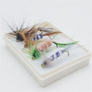 Nueva hierba Carpa Road Sub Bait Fly Imitation Butterfly Single Insect Sook Set Set