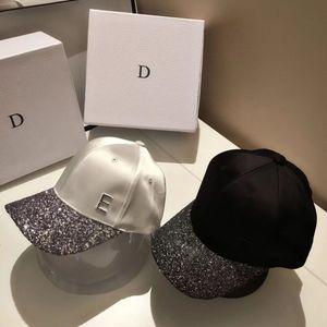 Summer versatile Sequin baseball cap Japanese inlaid diamond letter sun shading cap outdoor casual women's hat fashion