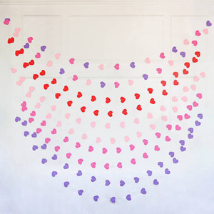 4 meter heart dots paper Flag Party bell garland Decoration Banner Bunting for birthday wedding event