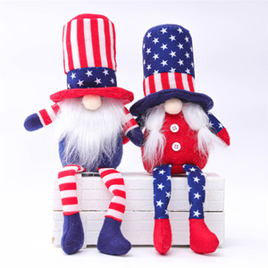 Patriotic Gnome Plush American President Election Decoration Tomte 4th of July Gift Handmade Dwarf Doll Household Ornaments