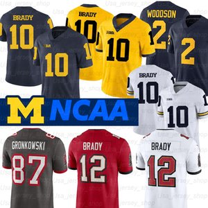 Michigan Wolverines Jersey Desmond Howard 10 Tom Brady 2 Charles Woodson Shea Patterson NCAA Futbol Forması