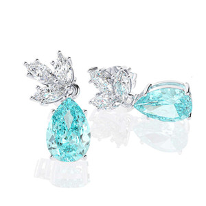 HBP luxury new S925 silver needle fashion temperament 6 * 9 small water drop simple female Zircon earrings