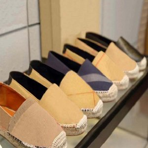 Classics Loafers Women Espadrilles flat shoes Canvas and Real Lambskin Loafers two tone cap toe Fashion casual shoes hm011 CH01