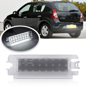1Pc LED License Number Plate Light For Dacia Logan I 04-12 Sandero I 08-12 Renault Clio II FaceLift 01-05 Car Tail Lamp