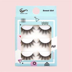 3 Pairs 3D Natural False Eyelashes 6 Styles Reusable Wispy Fake Eyelash DIY Handmade Lashes Extension Beauty Makeup Tool