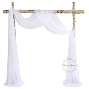 Curtain & Drapes Wedding Arch Drapping Fabric 74cm Wide 6-10Meters Chiffon Drapery Ceremony Reception Swag