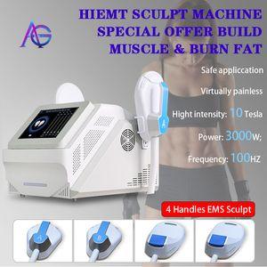 2021 Sculpt Emslim Hi-EMT 기계 EMS 근육 자극기 전자기 지방 굽기 성형 Hiemt 조각 아름다움 장비 무료 로고