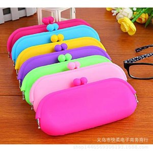 New zero wallet cosmetic multifunctional glasses silicone pen candy color bag