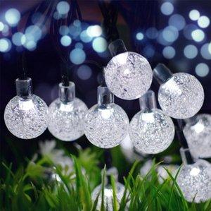 Solar bulb lights for outdoor LED ball shape lights for garden decoration in weddings or holidays
