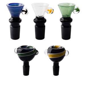 Glassvape168 CSYC G074 G092 Black Joint Wig Wag Glass Bowls 14mm 19mm Male Glass Bong Pipes Tool Smoking Acessory Bowl