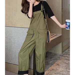 2021 mujeres primavera verano vintage pantalón conjunto femenino media manga camiseta + traje de pantalón general damas casual suelto 2 pieza conjunto D509