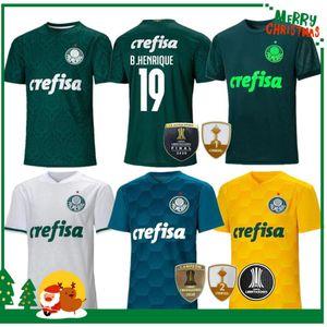 20 21 Palmeiras Soccer Jersey Home Green Dudu G.Jesus B. Henrique Alecsandro 2020 2021 PalmEiras Adulto Man + Kit Kit Camisa de Fútbol