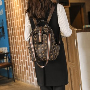 Designer PVC Backpacks Women High Quality Ladies Shoulder Bag High Quality School Bags for Teenage Girls Chain Travel Bag